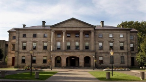 The Prince Edward Island legislature seen in Charlottetown, on Sept. 25, 2003. (THE CANADIAN PRESS/Andrew Vaughan)