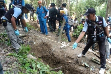 Mass graves in Thailand