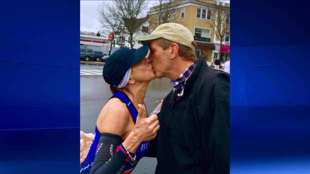 Boston Marathon runner seeking man she kissed on a dare
