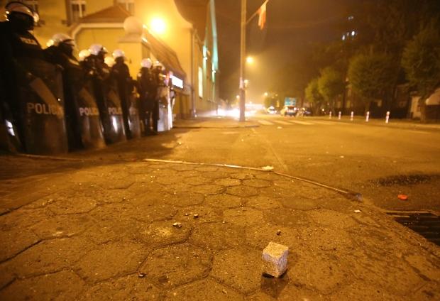 Riot police in Poland