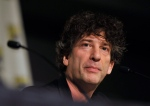 Writer Neil Gaiman attends a panel at Comic-Con International in San Diego in this July 21, 2013 file photo. (AP / Invision / Chris Pizzello)