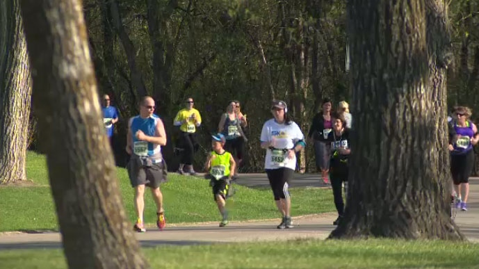 2,900 runners took part in the 11th annual Winnipeg Police Service Half Marathon at Assiniboine Park Sunday May 3, 2015.