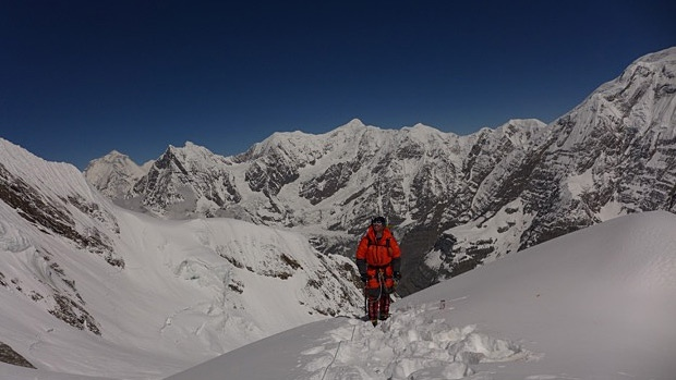 Edmonton-area climber Al Hancock had been climbing Annapurna when the earthquake in Nepal hit. Photo supplied.