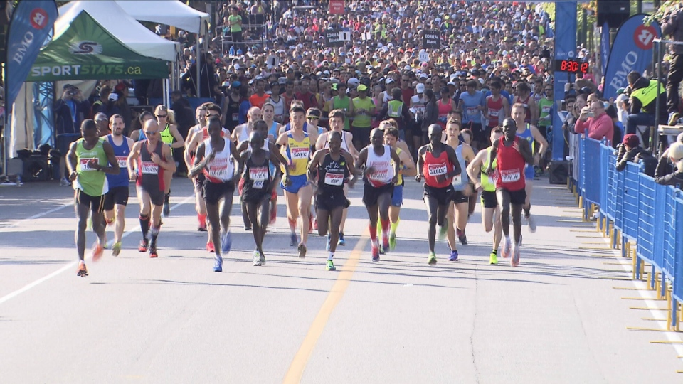 Thousands of runners participated in the annual Vancouver marathon on Sunday. (CTV)