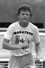 Terry Fox continues his Marathon of Hope run across Canada in this Aug., 1980 file photo. (The Canadian Press)