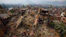 earthquake-struck Bhaktapur, Nepal