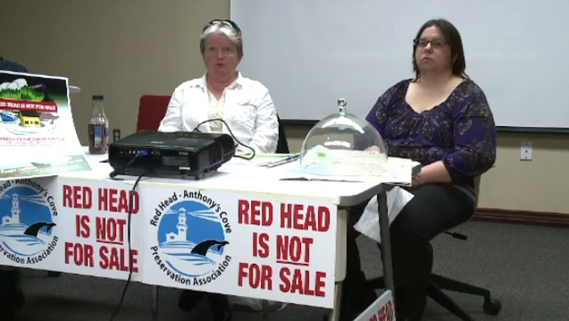 Red Head and Anthony's Cove Preservation Association members Leanna Sutton, left, and Lynaya Astephen are among those opposing the pipeline.