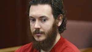 Movie theatre massacre defendant James Holmes sits during a pre-trial hearing in court in Centennial, Colo. on June 4, 2014. (Andy Cross, The Denver Post via AP)