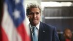U.S. Secretary of State John Kerry arrives to speak at a news conference at the Nairobi Sankara Hotel in Nairobi, Kenya on May 4, 2015. (AP / Andrew Harnik)