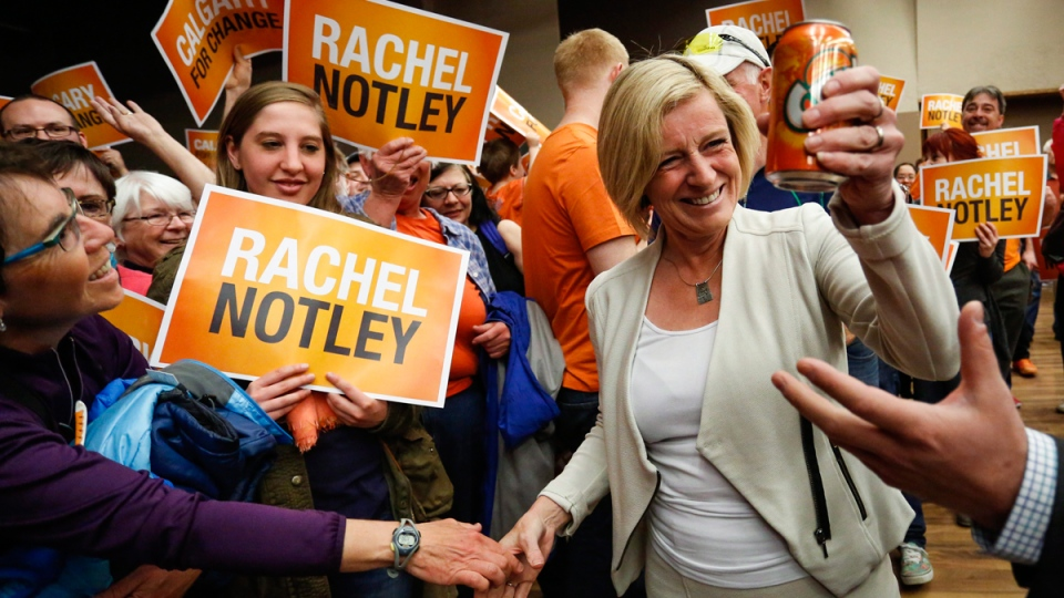 Alberta NDP Leader Rachel Notley in Calgary, Alta., on May 2, 2015. THE CANADIAN PRESS/Jeff McIntosh