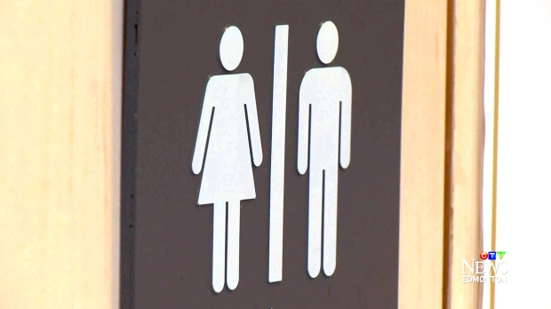 male and female washroom