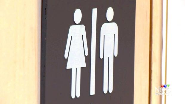 male and female washroom
