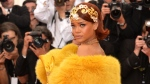 Rihanna arrives at The Metropolitan Museum of Art's Costume Institute benefit gala celebrating 'China: Through the Looking Glass' in New York, Monday, May 4, 2015. (Evan Agostini / Invision)