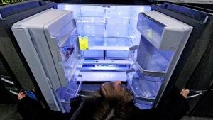 An empty refrigerator is seen in this Jan. 16, 2014 photo. (AP / Gene J. Puskar)