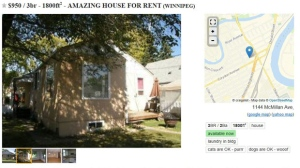 Buyer, beware: Photos of Winnipeg landlord's home used in scam ad