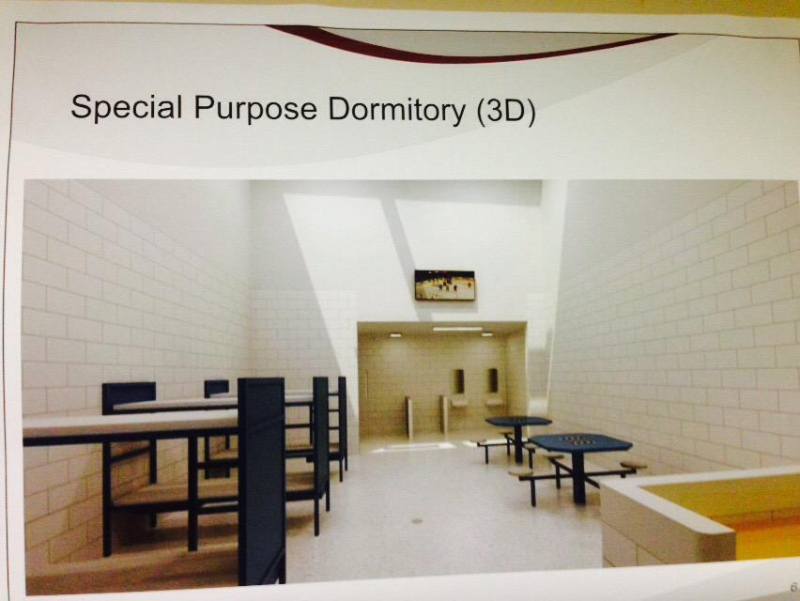An artist's rendering shows the inside of a new regional intermittent centre planned for the Elgin-Middlesex Detention Centre in London, Ont., Tuesday, May 5, 2015. (Gerry Dewan / CTV London)