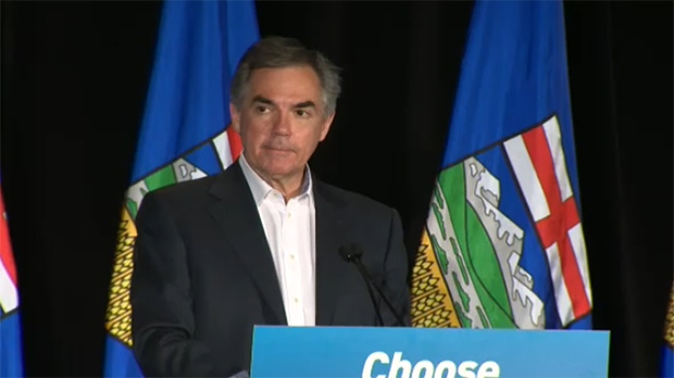 Jim Prentice stepped aside as leader of the PC Party in front of supporters in Calgary on Tuesday, May 5th.