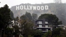 Homes sit on the hillside near the Hollywood Sign, Tuesday, Jan. 20, 2015, in Los Angeles. (AP / Jae C. Hong)