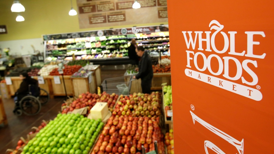 A Whole Foods Market is seen in Woodmere Village, Ohio, on March 27, 2014. (AP Photo/Tony Dejak)