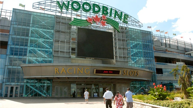 The entrance to Woodbine Racetrack on Thursday, Sept. 1, 2005.