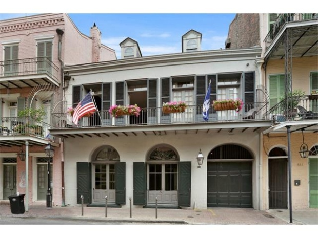 Brad Pitt and Angelina Jolie's New Orleans home, located in the French Quarter, is seen in this image from the property listing. (Judith Y. Oudt/Latter & Blum)