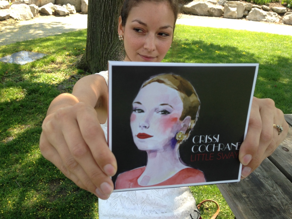 "Windsor singer-songwriter Crissi Cochrane with her album ""Little Sway"" in Windsor, Ont., Thursday, May 7, 2015. (Sacha Long / CTV Windsor)"