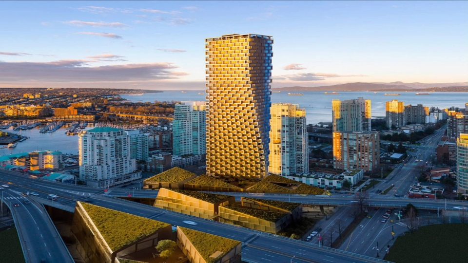 Foreign buyers have snapped up 35 per cent of the units in Vancouver House, a hotly anticipated development near the Granville Street Bridge.