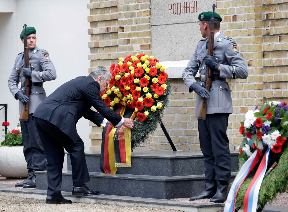 Europe end of World War II ceremony