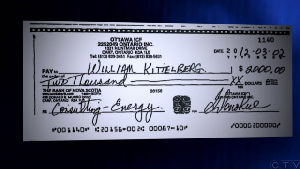 Cheque for Bill Rodgers