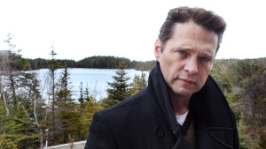 Jason Priestley appears on the set of the film 'Away from Everywhere,' in St. John's, N.L. on Thursday, May 7, 2015. (Paul Daly / THE CANADIAN PRESS)