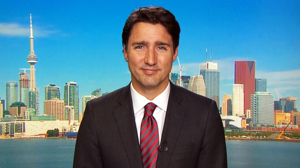 Liberal Leader Justin Trudeau speaks with CTV's Question Period on May 10, 2015.