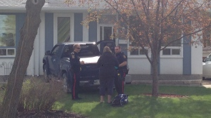 Police said one person was taken to hospital when a pickup truck collided with a home in St. James on May 10, 2015.