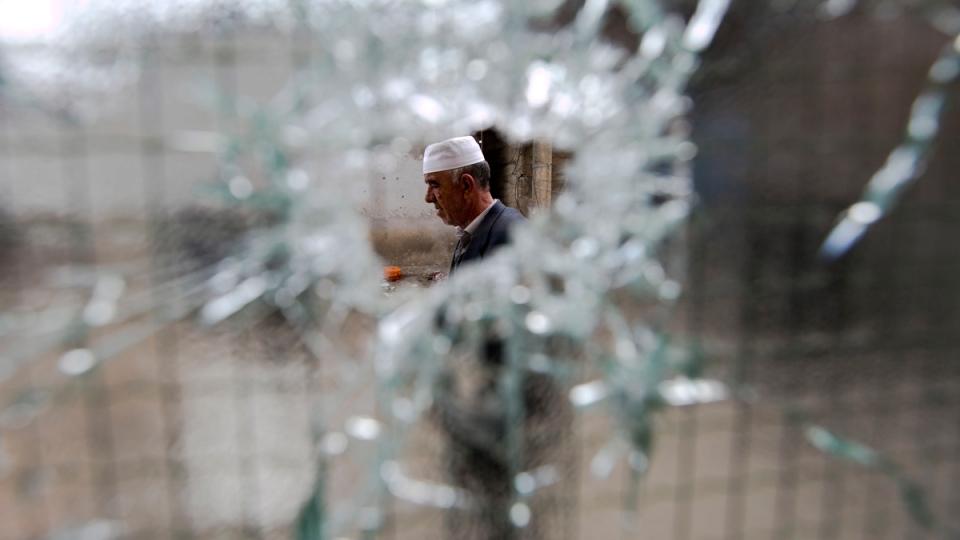 At the scene of the gun battle in Kumanovo, Macedonia, on May 11, 2015. (AP / Visar Kryeziu)