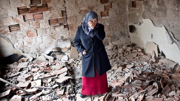 Heavy damage following fighting in Macedonia