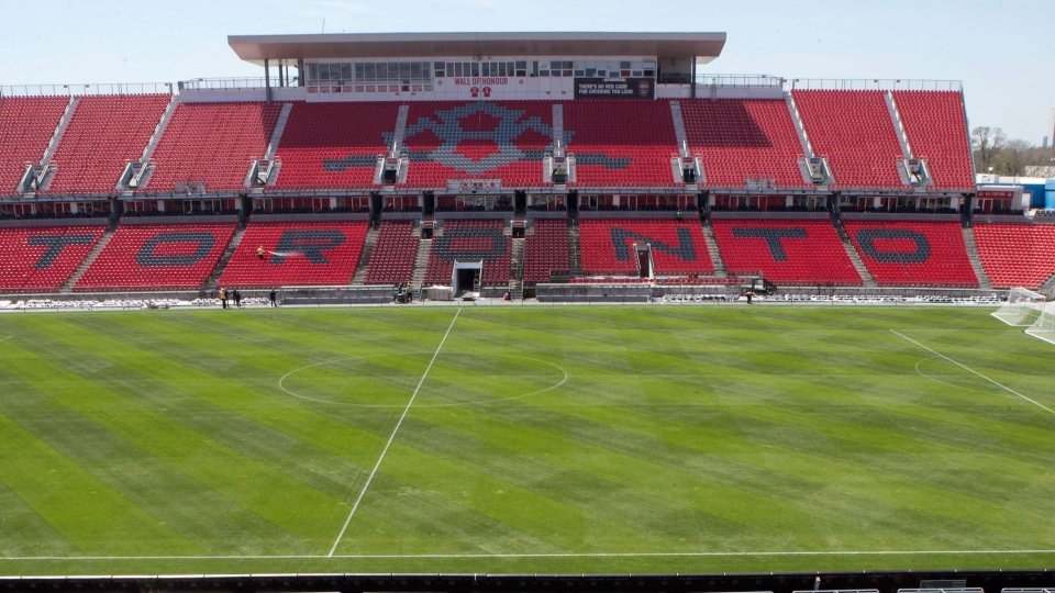 Stands at Toronto FC's BMO Field on Thursday, May 7, 2015. (Chris Young / THE CANADIAN PRESS)