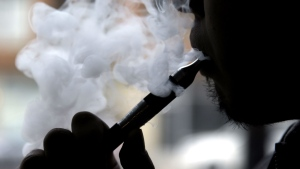 An electronic cigarette is demonstrated in Chicago on April 23, 2014. (Nam Y. Huh/AP)