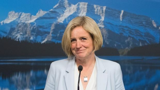 Rachel Notley in Edmonton, Alberta