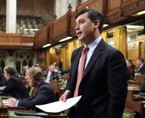 Conservative MP Michael Chong speaks during question period in the House of Commons on Parliament Hill in Ottawa on April 7, 2014. The Conservative MP's bill, known as Reform Act 2014, is facing stiff opposition in the upper chamber. (Fred Chartrand / THE CANADIAN PRESS)
