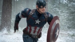 Chris Evans as Captain America/Steve Rogers, in the film, 'Avengers: Age Of Ultron.' (Jay Maidment/Disney/Marvel via AP)