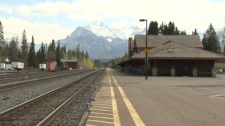 Banff train station