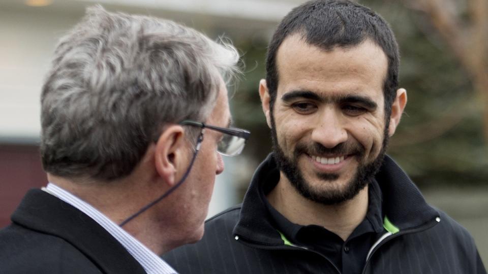 Omar Khadr with lawyer Dennis Edney
