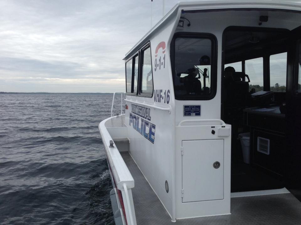 York Regional Police's Marine Unit patrols Lake Simcoe on Friday May 15, 2014. (Heather Butts / CTV Barrie)