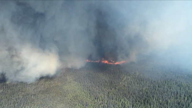 Premier urges prevention as wildfire rages near Prince George, B.C.
