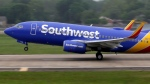 A Southwest airlines jet takes off from a runway at Love Field in Dallas on April 23, 2015. (AP Photo.LM Otero)