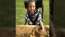 Cadence Flaata and her sandbox