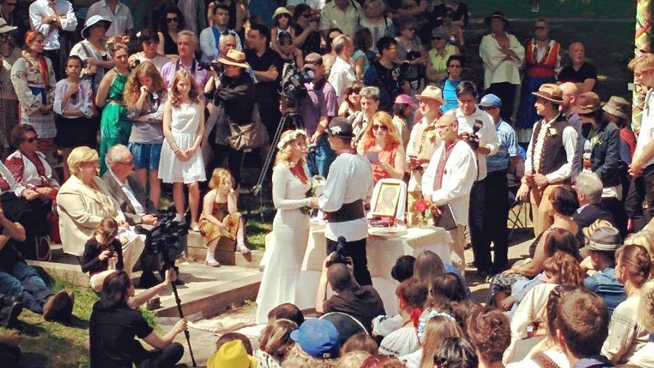 This photo shows the public wedding at Dufferin Grove Park on May 17.