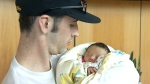 Baby born on plane returns home to B.C.