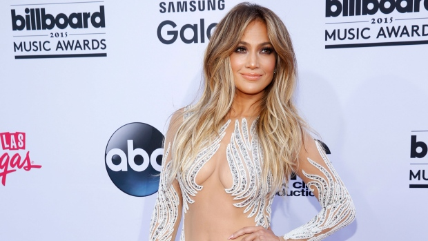 Jennifer Lopez arrives at the Billboard Music Awards at the MGM Grand Garden Arena on Sunday, May 17, 2015, in Las Vegas. (Eric Jamison / Invision)