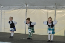 Highland dancers compete at the Saskatchewan Highland Games and Celtic Festival in Victoria Park on Sunday. Photo: Amanda Symynuk