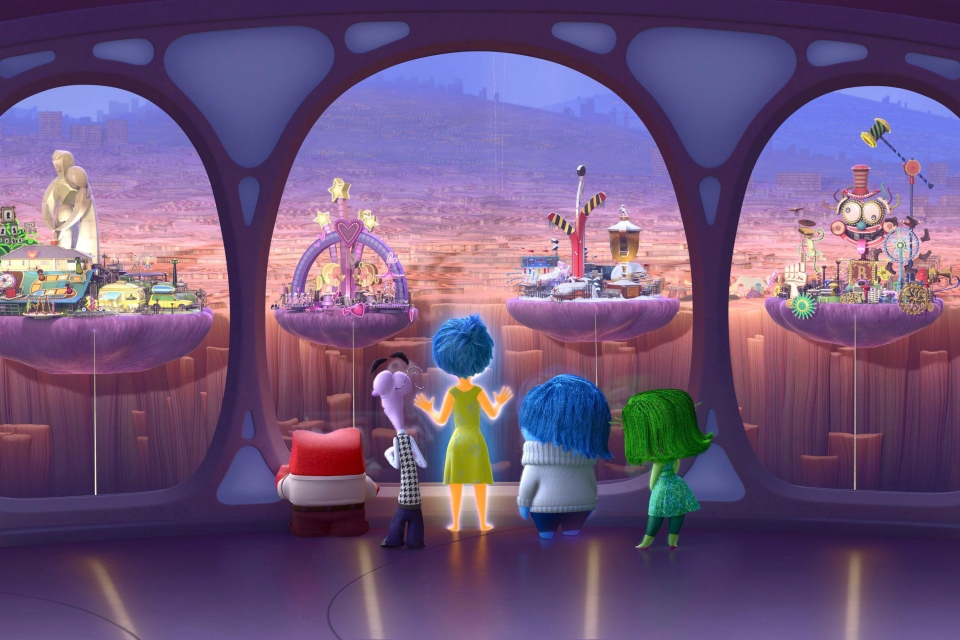 This photo provided by Disney-Pixar shows a scene from the new animated film 'Inside Out.' (Provided / Disney-Pixar)